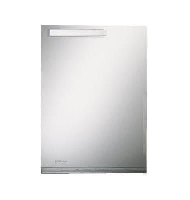 Sichthüllen Maxi 40540000, A4, farblos, transparent, genarbt, 0,2mm, oben & rechts offen, PVC, mit Falte & Beschriftungsfenster