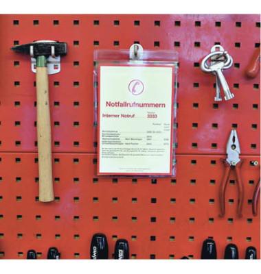 Sichttasche PVC-Weichfolie A4 glasklar 0,2mm m. Öse