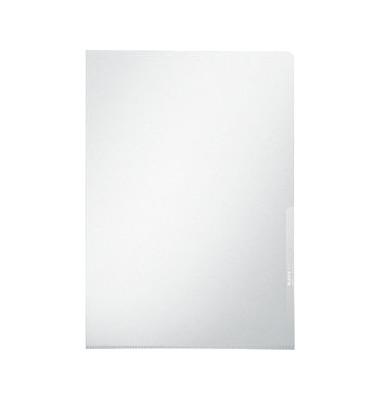 Sichthüllen Premium 4100-00-03, A4, farblos, klar-transparent, glatt, 0,15mm, oben & rechts offen, PVC