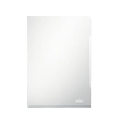 Sichthüllen Super Premium 4153-00-03, A4, farblos, klar-transparent, glatt, 0,15mm, oben & rechts offen, PVC-Hartfolie