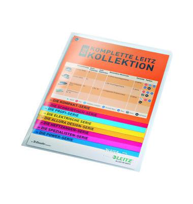 Sichthüllen Super Premium 4155-00-00, A5, farblos, klar-transparent, glatt, 0,15mm, oben & rechts offen, PVC-Hartfolie