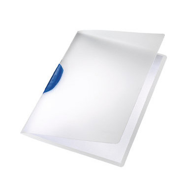Klemmhefter ColorClip Magic 4175-00-35, A4, für ca. 30 Blatt, Kunststoff, transparent/blau