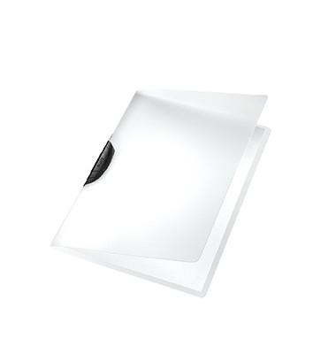 Klemmhefter ColorClip Magic 4175-00-95, A4, für ca. 30 Blatt, Kunststoff, transparent/schwarz