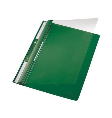 Schnellhefter Universal 4190 A4 grün PVC Kunststoff kaufmännische Heftung mit Abheftlochung bis 250 Blatt