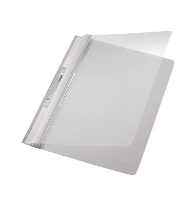 Schnellhefter Universal 4190 A4 grau PVC Kunststoff kaufmännische Heftung mit Abheftlochung bis 250 Blatt