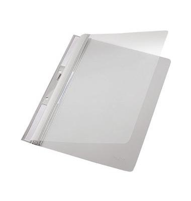 Schnellhefter Universal A4 PVC grau transparenter Vorderdeckel
