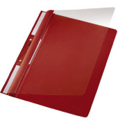 Schnellhefter Universal A4 PVC rot transparenter Vorderdckel