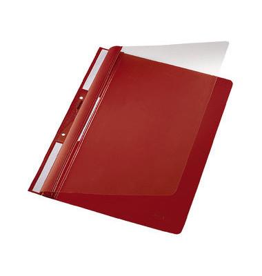 Schnellhefter Universal 4190 A4 rot PVC Kunststoff kaufmännische Heftung mit Abheftlochung bis 250 Blatt