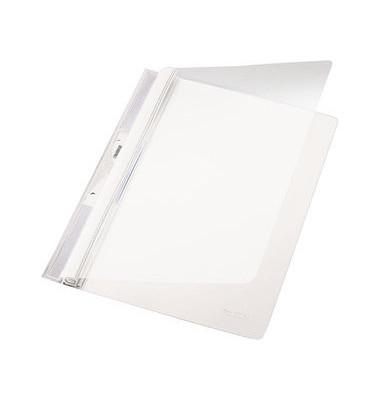Schnellhefter Universal 4190 A4 weiß PVC Kunststoff kaufmännische Heftung mit Abheftlochung bis 250 Blatt