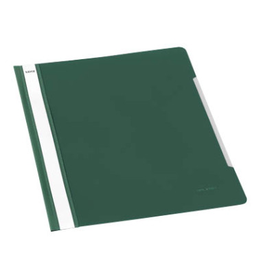 Schnellhefter Standard A4 grün transparenter Vorderdeckel