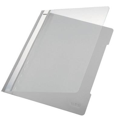 Schnellhefter Standard A4 grau transparenter Vorderdeckel