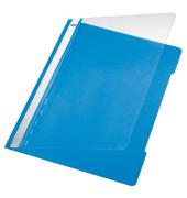 Schnellhefter Standard A4 hellblau transparenter Vorderdeckel