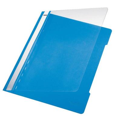 Schnellhefter Standard 4191 A4 hellblau PVC Kunststoff kaufmännische Heftung bis 250 Blatt