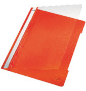 Schnellhefter Standard A4 orange transparenter Vorderdeckel