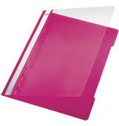 Schnellhefter Standard A4 pink transparenter Vorderdeckel