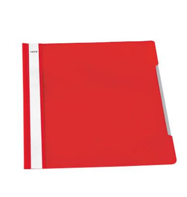 Schnellhefter Standard A4 rot transparenter Vorderdeckel