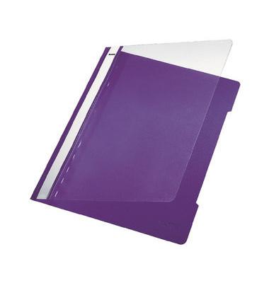 Schnellhefter Standard A4 violett transparenter Vorderdeckel