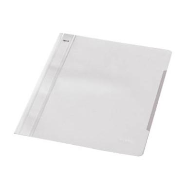 Schnellhefter Standard A4 weiss transparenter Vorderdeckel