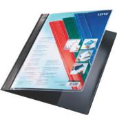 Schnellhefter Exquisit 4193 A4+ überbreit schwarz PVC Kunststoff kaufmännische Heftung mit Tasche bis 230 Blatt