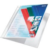 Schnellhefter Exquisit 4193 A4+ überbreit weiß PVC Kunststoff kaufmännische Heftung mit Tasche bis 230 Blatt