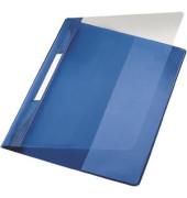 Schnellhefter Exquisit A4 blau transparenter Vorderdeckel