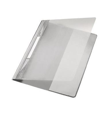 Schnellhefter Exquisit A4 grau transparenter Vorderdeckel