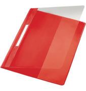 Schnellhefter Exquisit A4 rot transparenter Vorderdeckel kaufmännische Heftung