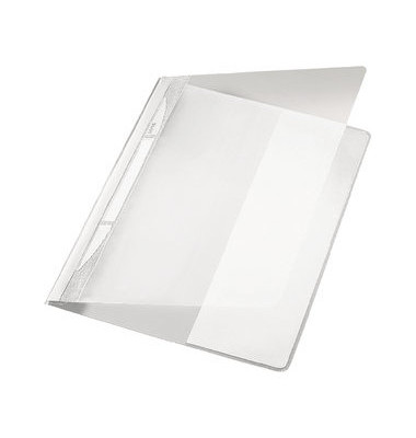 Schnellhefter Exquisit 4194 A4+ überbreit weiß PVC Kunststoff kaufmännische Heftung bis 250 Blatt
