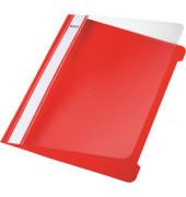 Schnellhefter Standard A5 rot transparenter Vorderdeckel