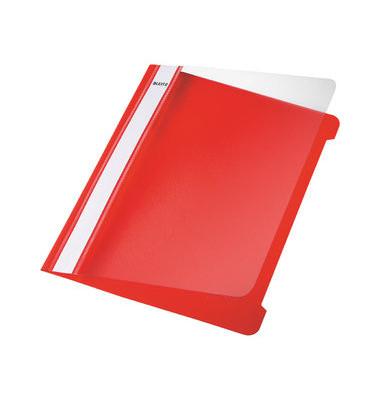 Schnellhefter Standard 4197 A5 rot PVC Kunststoff kaufmännische Heftung bis 250 Blatt