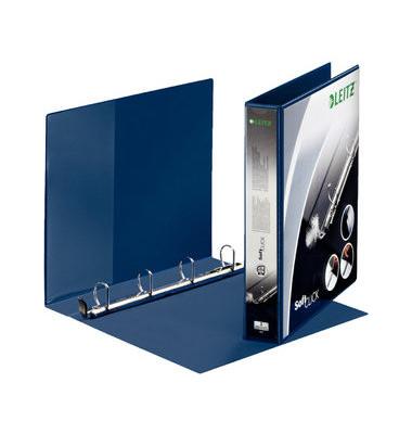 Präsentations-Ringbuch Premium SoftClick 4202-00-35 A4+ blau 4-Ring Ø 30mm Kunststoff