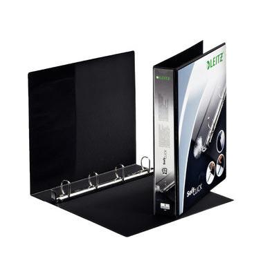 Präsentations-Ringbuch Premium SoftClick 4202-00-95 A4+ schwarz 4-Ring Ø 30mm Kunststoff