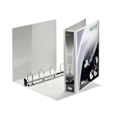 Präsentations-Ringbuch Premium SoftClick 4203-00-01 A4+ weiß 4-Ring Ø 40mm Kunststoff