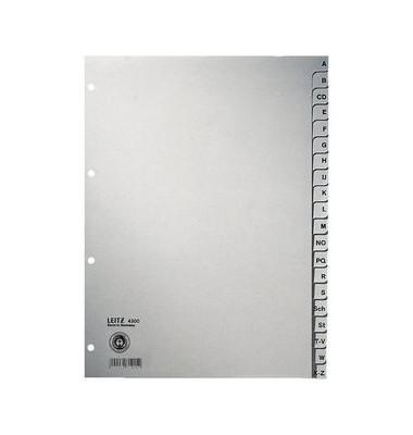 Kartonregister 4300-00-85 A-Z A4 100g graue Taben 20-teilig
