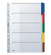 Kartonregister 4320-00-00 blanko A4 160g farbige Taben 5-teilig