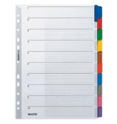 Kartonregister 4321 blanko A4 160g farbige Taben 10-teilig