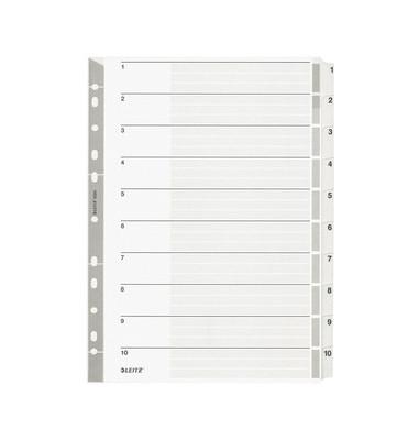 Kartonregister 4324 1-10 A4 160g graue Taben 10-teilig