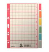 Kartonregister 4350-00-85 blanko A4 230g farbige Taben 6-teilig