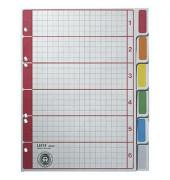 Kartonregister 4355-00-85 blanko A5 230g farbige Taben 6-teilig