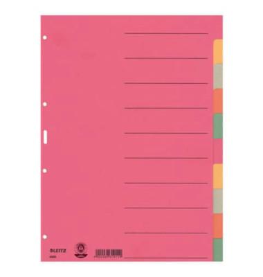 Kartonregister 4359 blanko A4 230g farbige Taben 10-teilig