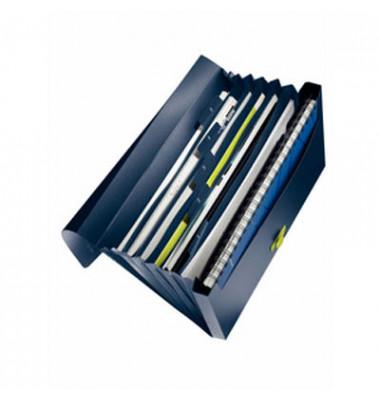 Fächermappe Re:cycle 4624-00-69 A4 mit 5 Fächern 1-5 Kunststoff dunkelblau