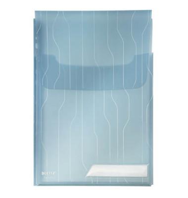 4727 CombiFile Maxi blau A4 Prospekthüllen genarbt 20my 3 Stück