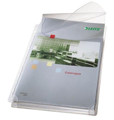 4757 Maxi Prospekthülle mit Klappe A4 genarbt 170my