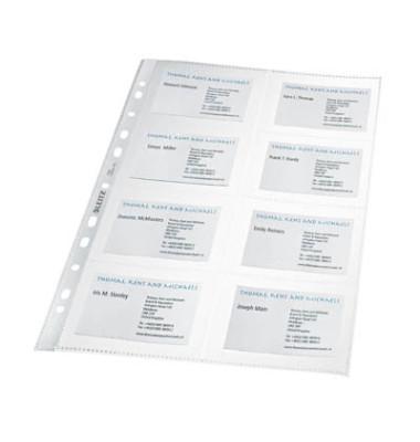 Visitenkartenhüllen A4 glasklar 0,11mm PP 10 Stück