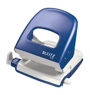 Locher 5008 blau 3mm 30 Blatt mit Anschlagschiene