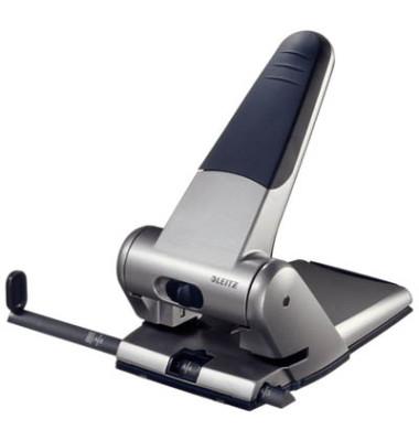 Registraturlocher 5180-00-84 grau bis 6,3mm 63 Blatt mit Anschlagschiene