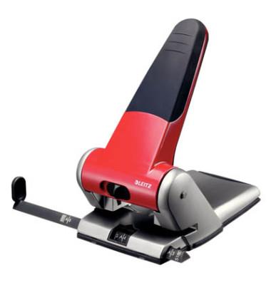 Registratur-Locher 5180 rot 6,3mm 63 Blatt mit Anschlagschiene