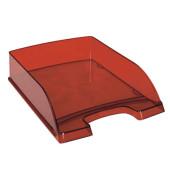 Briefablage Plus 5226-00-28 A4 / C4 rot-transparent Kunststoff stapelbar