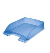 Briefablage 5227 Plus A4 / C4 blau-transparent staplebar