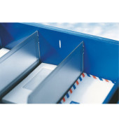 Trennwand für Sorty 5230/5232 grau/transparent 2 Stück